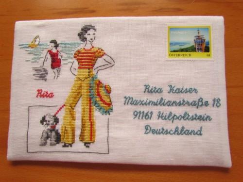 Portal Handarbeitsfrau De Kreuzstichclub